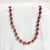 Red Recycled Paper Necklace