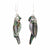 Earrings, Abalone Parrot