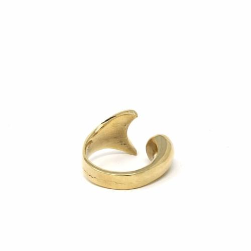 Brass Mermaid Tail Ring, Size 8