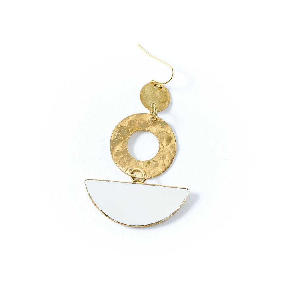 Ria Earrings - White Slice - Matr Boomie
