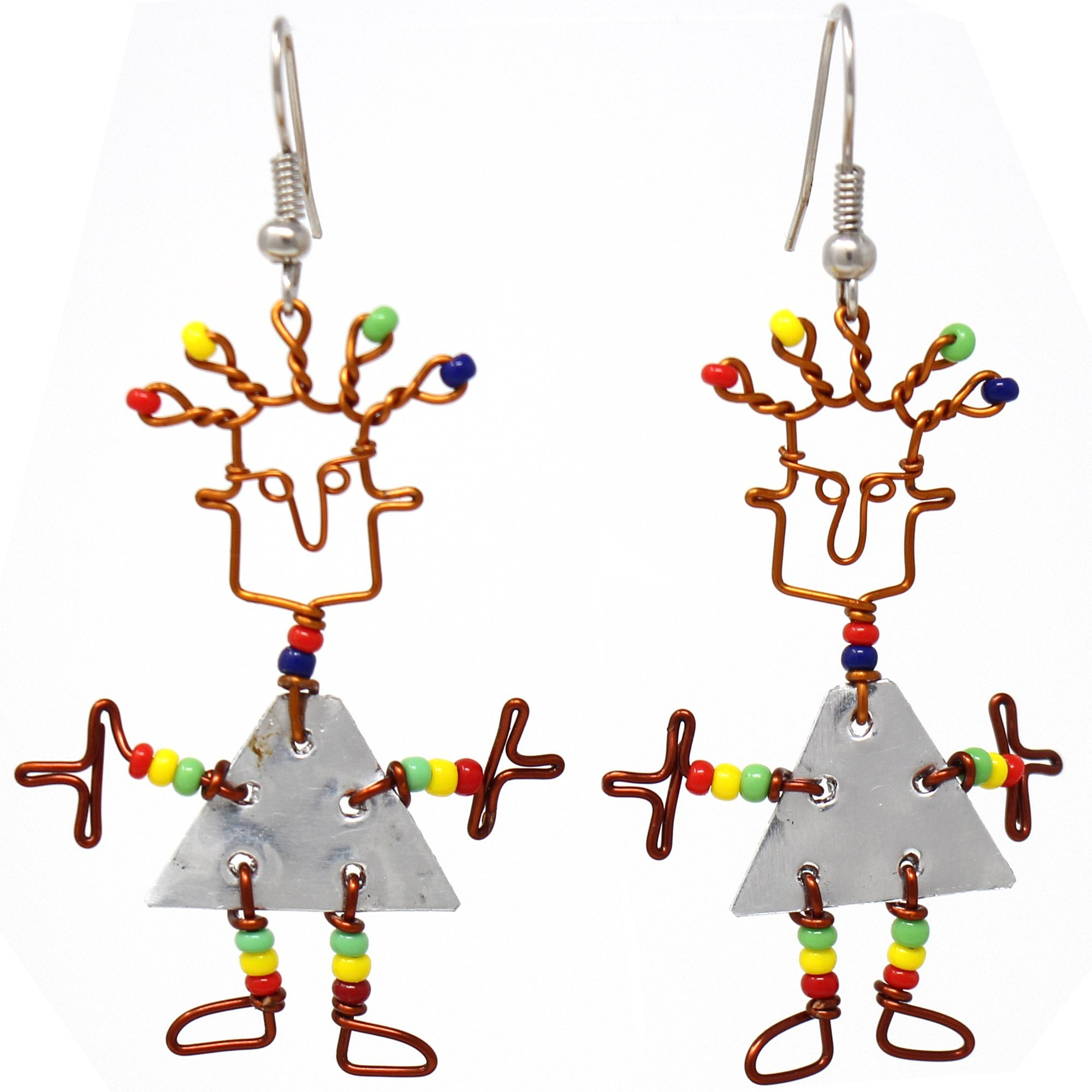Tin Dancing Girl Earrings - Creative Alternatives