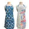 Apron - Blue Fleur-de-Lis Organic Cotton - Global Mamas (A)
