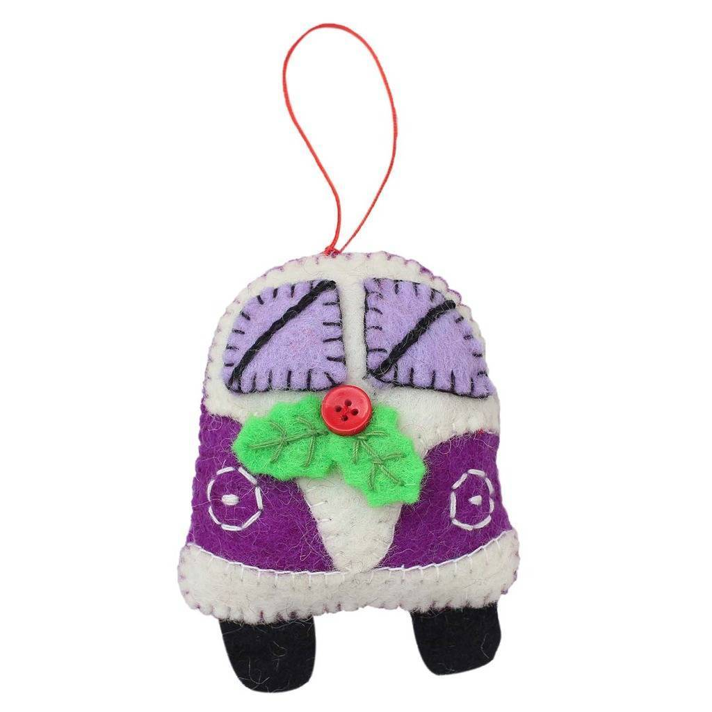 Purple Van Felt Ornament - Global Groove (H)