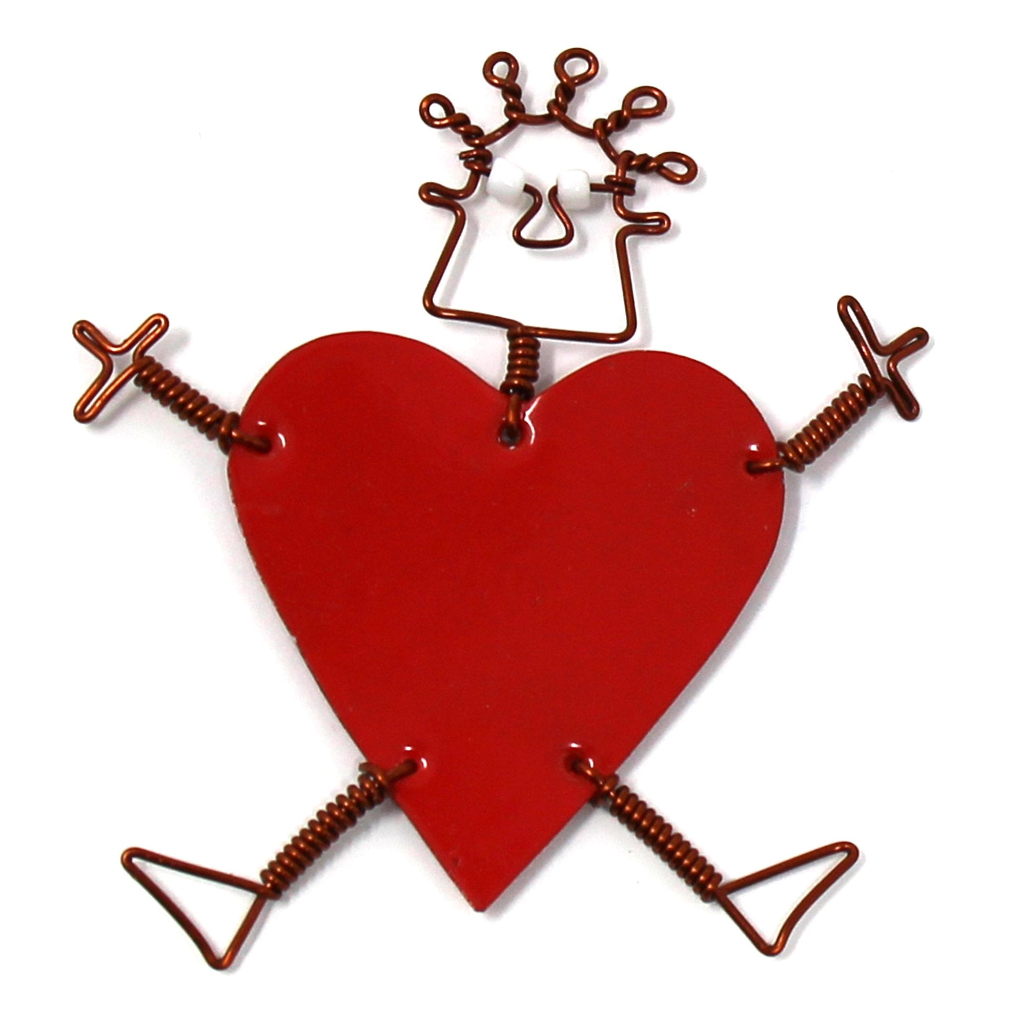 Dancing Girl Heart Pin - Creative Alternatives