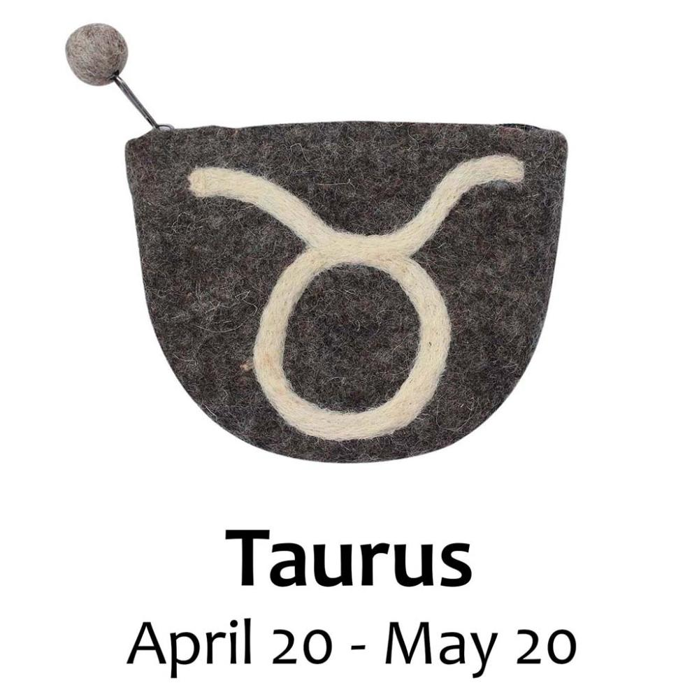 Felt Taurus Coin Purse - Global Groove