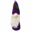 Christmas Ornament: Gnome, Purple - Global Groove (H)