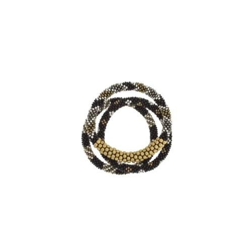 Statement Roll-On Bracelets, Black Sun - Aid Through Trade