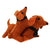 Felt Dashchund with Puppy Ornament - Silk Road Bazaar (O)