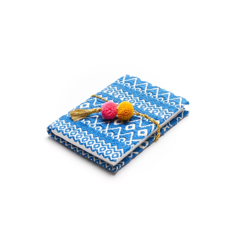Hana Pom Pom Journal - Blue - Matr Boomie