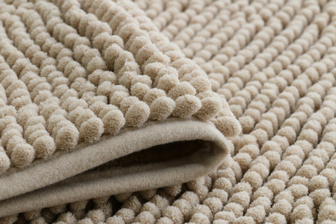 Chenille Microfiber Floor/Bathroom Mat - Cream