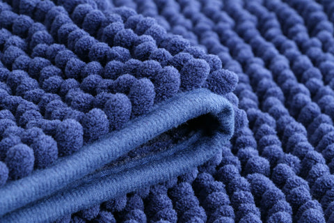 Chenille Microfiber Floor/Bathroom Mat - Navy