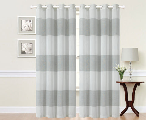 Imperial Home-Embroidered Osaka Semi-Sheer Grommet Single Curtain Panel