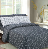 Imperial Bamboo Printed 6-Piece Sheet Set - Geometric