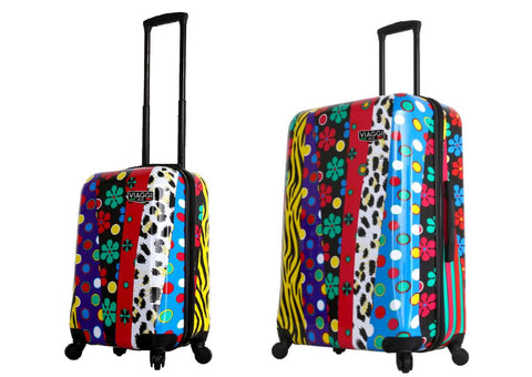 Mia Viaggi Printed Hardcase 2PC Luggage Set - Tropics