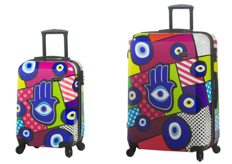 Mia Viaggi Printed Hardcase 2PC Luggage Set - Hamsa