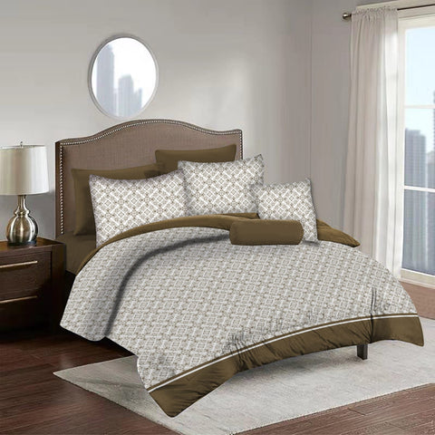 Imperial Home Printed 6-Piece Bedsheet Set - Beige/Coffee