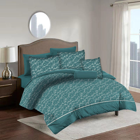 Imperial Home Printed 6-Piece Bedsheet Set - Green