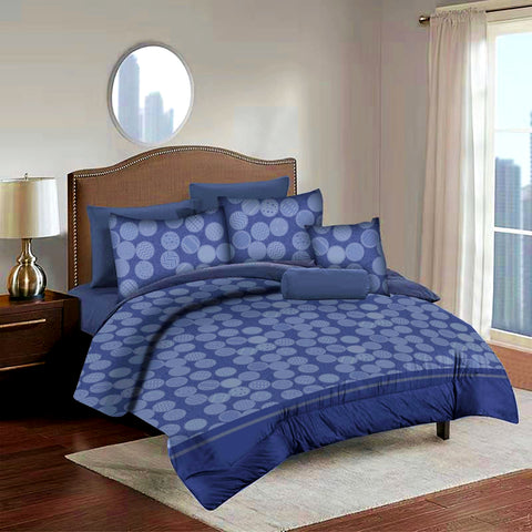 Imperial Home Printed 6-Piece Bedsheet Set - Navy