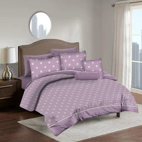 Imperial Home Printed 6-Piece Bedsheet Set - Pink
