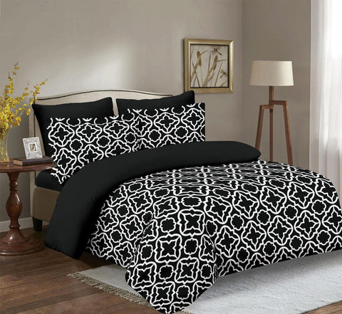 Imperial Home Printed 6-Piece Bedsheet Set - Black/White