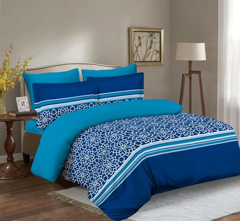 Imperial Home Printed 6-Piece Bedsheet Set - Blue