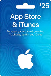 US Apple - $25 App Store & iTunes Gift Card
