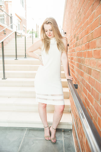 White Joyce Knit Dress