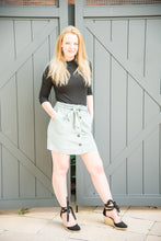Load image into Gallery viewer, Mint Green Paperbag Skirt