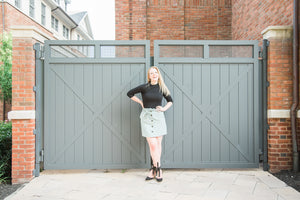 Mint Green Paperbag Skirt