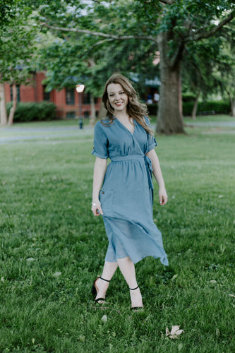 Baby Blue Wrap Dress