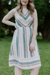 Chevron Striped Dress