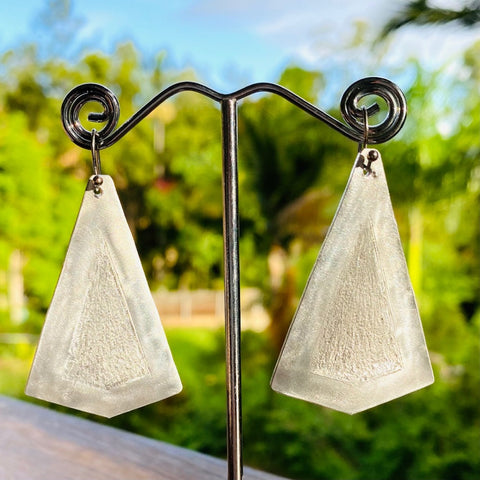 5.5cm Aluminium dangle earrings. Junction 44.