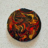 Resin Coasters - Black, Red and Gold - Set of 4