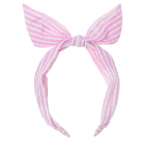 Candy Stripe Tie Headband