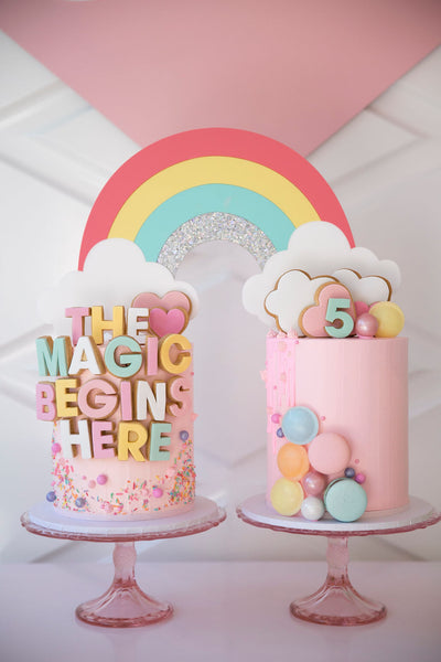 GIANT RAINBOW - Cake Topper