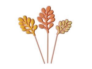 PEACHY PINK FLOWER BUD - Cake Topper Set