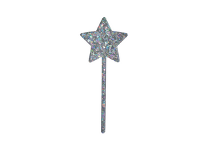 CHUNKY IRIDESCENT LARGE STAR - Cake Topper
