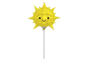 SMILING SUN | MINI SHAPED FOIL BALLOON WAND