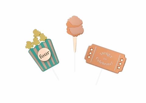 MINI CARNIVAL  | Cake Topper Set