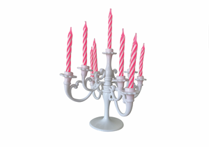 BIRTHDAY CANDLE CHANDELIER | WHITE