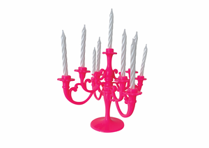 BIRTHDAY CANDLE CHANDELIER | HOT PINK