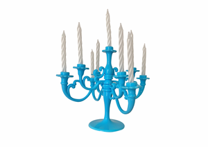 BIRTHDAY CANDLE CHANDELIER | BABY BLUE