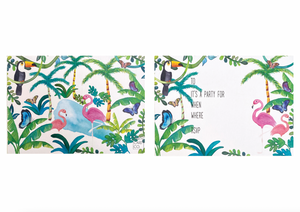 PARTY CARD CO | TROPICAL INVITES - PACK OF 10