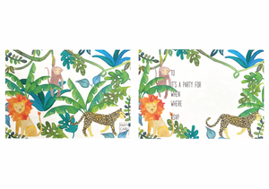 PARTY CARD CO | JUNGLE INVITES - PACK OF 10