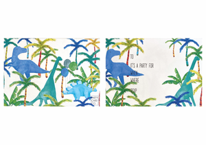 PARTY CARD CO | DINO INVITES - PACK OF 10