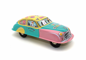 ICE CREAM WIND UP TIN CAR