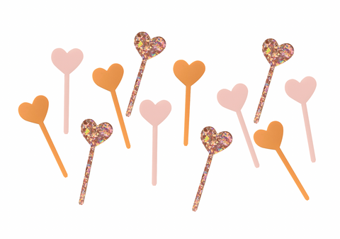 HEART MINI TOPPER SET - PEACHY