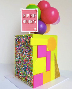 HIP HIP HOORAY LETTER BOARD - Cake Topper