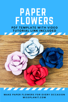 Paper Flowers Template For Every Occasion