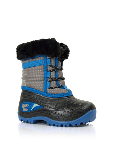 Blaze blue boys shark winter boots with lights